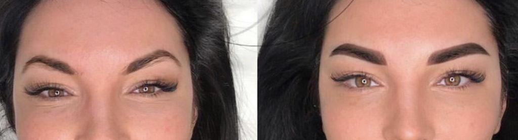 Augenbrauen Permanent Make up vorher nachher