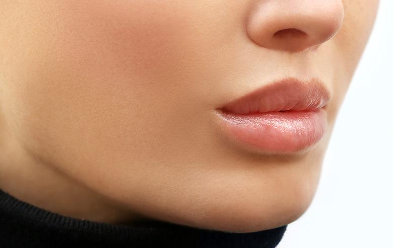 nach der Lippenaufspritzung – Russische Lippen