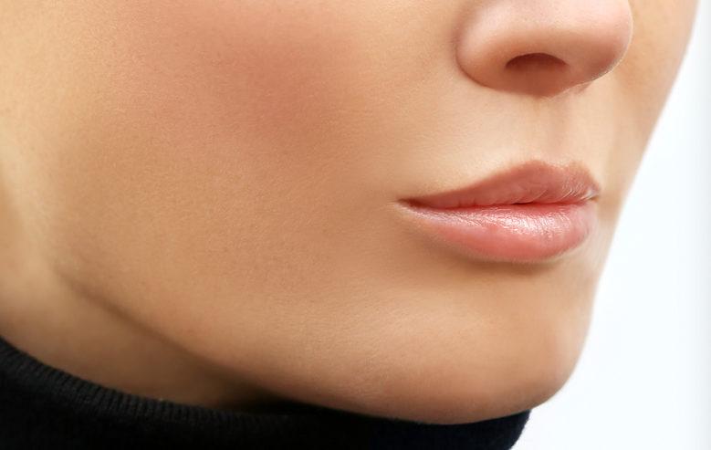Vor der Lippenaufspritzung